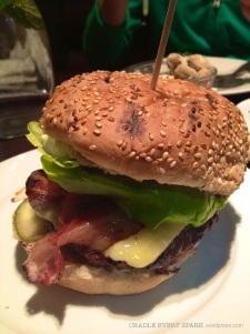 The. Burger. Cheddar Iike only the Brits know how, bacon, burger, amazing sauces. Perfect.