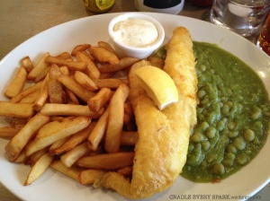 The main event: Fish and Chips.